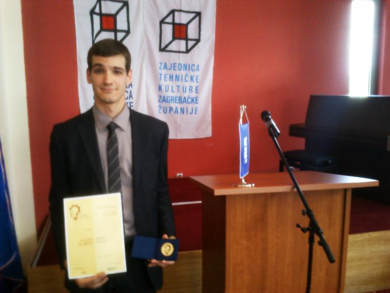 9 Međužupanijska izložba inovacija Ivanić-Grad 29.5. - 30.5.2014.  : Osvojeno prvo mjesto (zlatna plaketa) i glavna nagrada međužupanijskog natjecanja.
